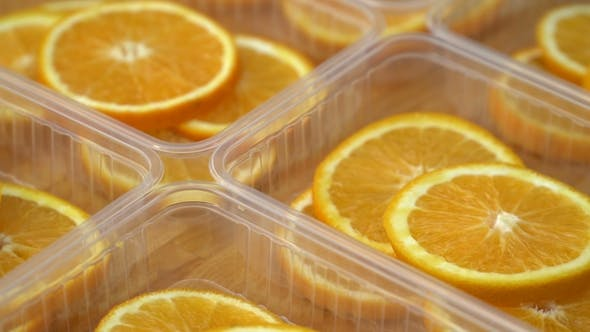 Thumbnail for Rotate Fresh Citrus Oranges Fruits - Seamless Loop