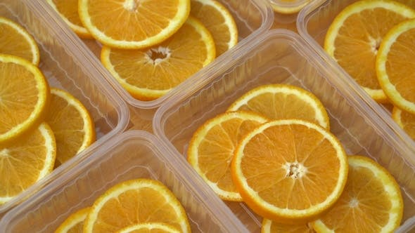 Cover Image for Rotate Fresh Citrus Oranges Fruits - Seamless Loop