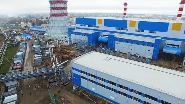 Thumbnail for Gebäude im Wärmekraftwerk wandeln Wärme in Energie um