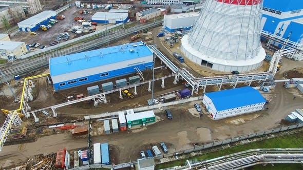 Thumbnail for Medium-capacity Thermal Power Plant Against City Buildings