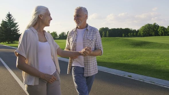 Thumbnail for Active Positive Seniors Enjoying a Walk in Park