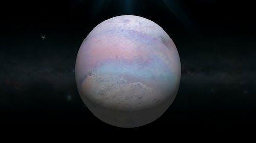 Triton Planet Rotating