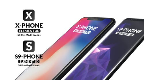X-Phone Promo For Element 3D + S9