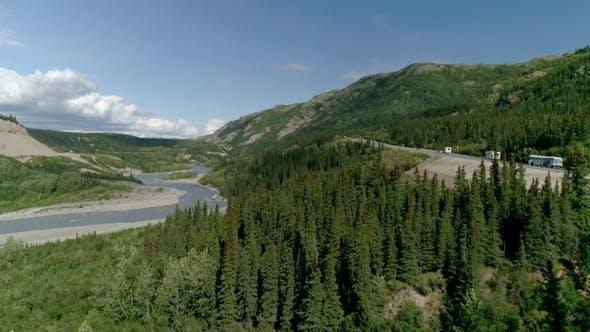 Thumbnail for Aerial View RV Aerial Flythrough of Alaska