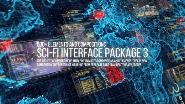 Sci-fi Interface HUD Pack 3