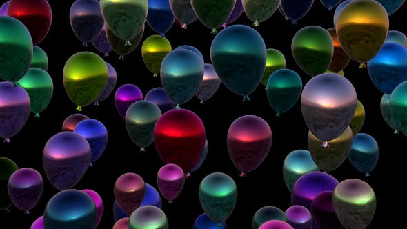 Cover Image for 4K Rising Colorful Balloons Seamless Loop