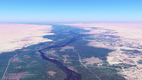 4K Flying Over Nile River