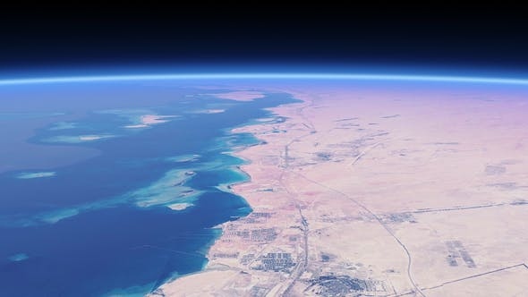 Thumbnail for 4K Sea and Desert From Space