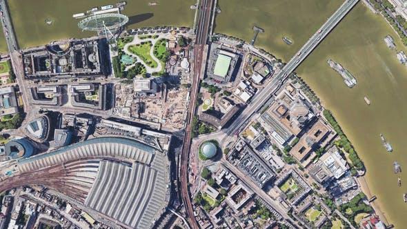 Thumbnail for 4K Flying Over Thames River London Birdseye View