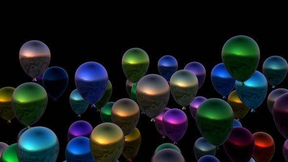 Thumbnail for 4K Rising Colorful Balloons