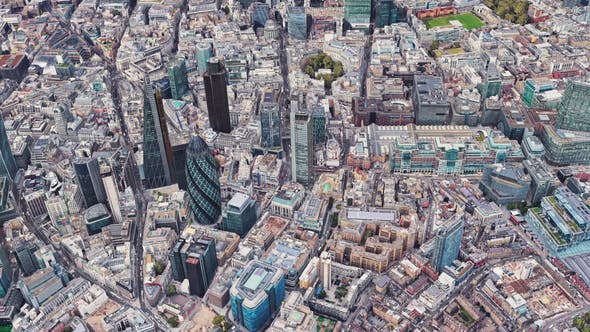 Cover Image for 4K Flying Over London City Downtown