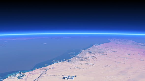 Thumbnail for 4K United Arab Emirates Coast and Palm Islands From Space