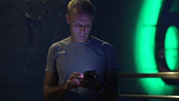 Thumbnail for Mature Scandinavian Man Messaging with Phone