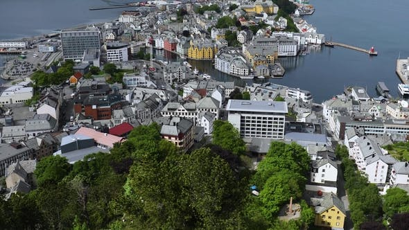 Thumbnail for Aksla at the City of Alesund , Norway