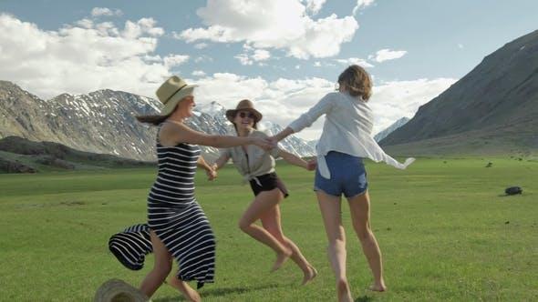 Thumbnail for Trendy Hipster Girls Having Fun Outdoor