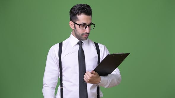 Thumbnail for Young Handsome Bearded Persian Businessman