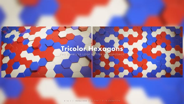 Thumbnail for Tricolor Retro Hexagons