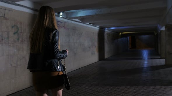 Woman Gets Mugged in Subway Passage at Night - product preview 0