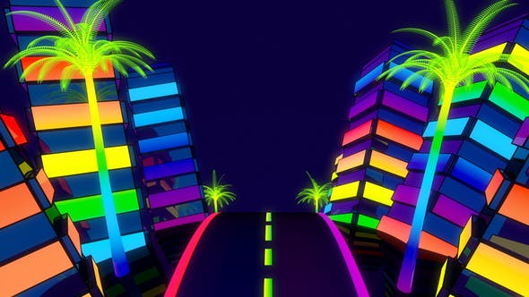 City Colorful Glowing