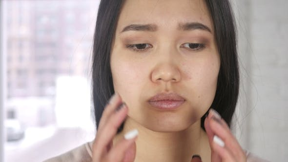 Thumbnail for Headache, Frustrated Asian Woman