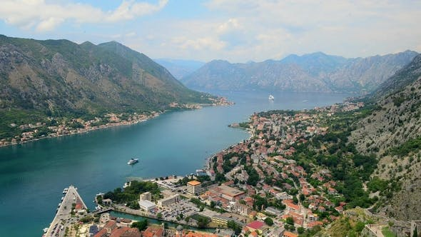 Aerial Beautiful View of Kotor Bay