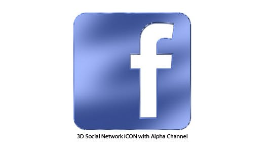 Facebook 3D Icon