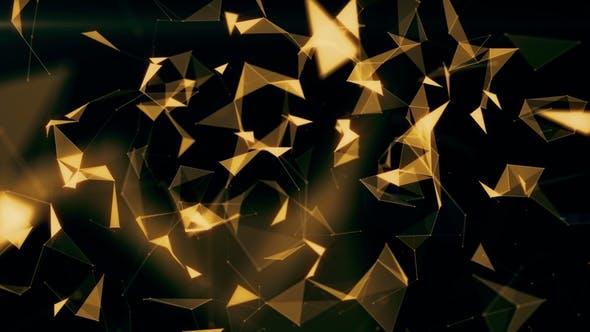 Gold Low Poly Background 4K v2