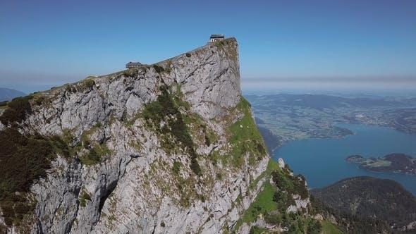Aerial of Schafberg Summit Upper Austria