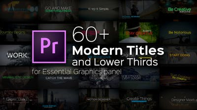 Modern Titles and Lower Thirds for Premiere Pro