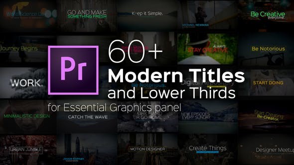 Thumbnail for Modern Titles and Lower Thirds for Premiere Pro