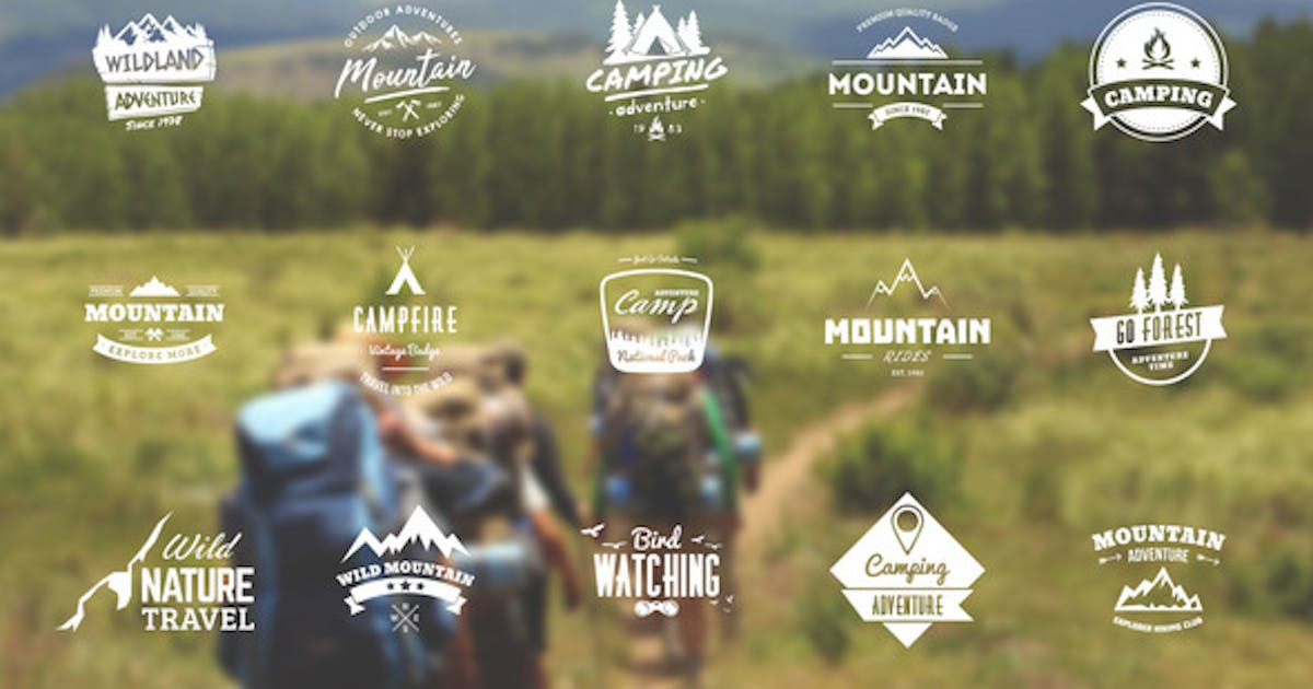 Download Mountain Travel And Campfire Badges by itefan