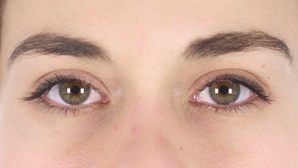 Thumbnail for Blinking Eyes of Woman