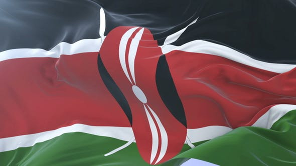 Flag of Kenya Waving