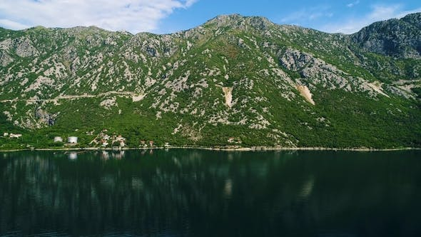 Thumbnail for Aerial View of the Kotor Bay and Villages Along the Coast