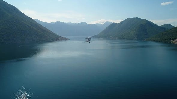 Thumbnail for Aerial View of the Our Lady of the Rocks Church and Island of Sveti Djordje in the Kotor Bay Near