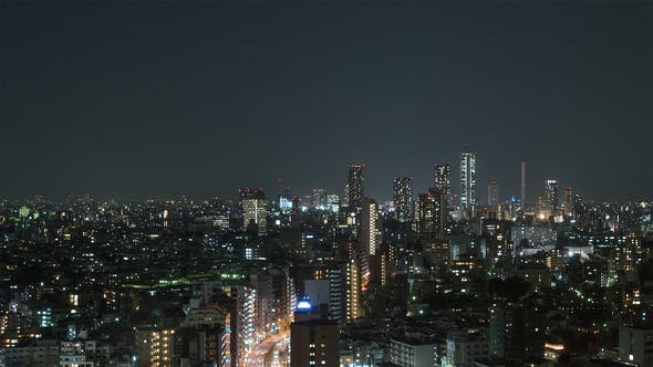 Thumbnail for Tokyo, Japan, Timelapse  - Tokyo s city traffic at Night from the Bunkyo Civic Center