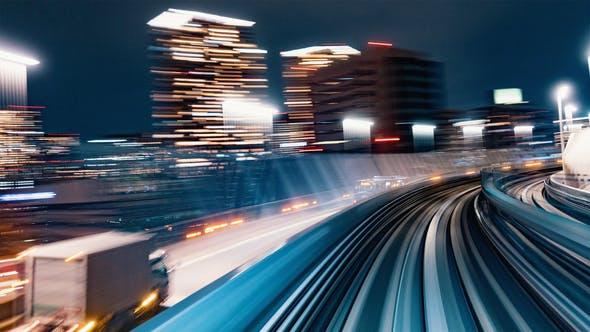 Tokyo, Japan - Hyperlapse POV Timelapse Through Tokyo Via the Automated Guideway Transit