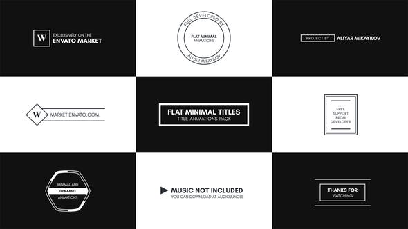 Thumbnail for Flat Minimal Titles - Essential Graphics | Mogrt