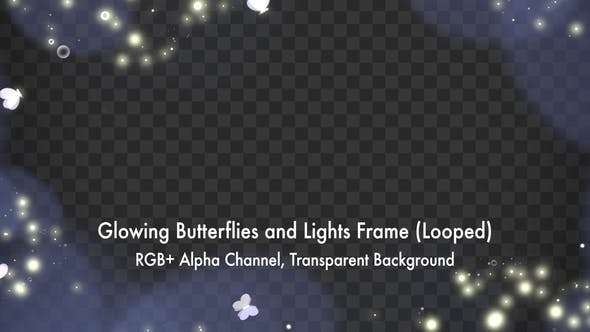 Glowing Butterflies and Lights Frame