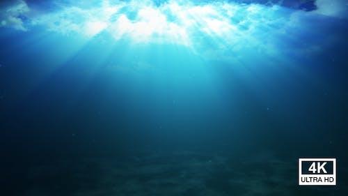 Underwater Light Rays 4K