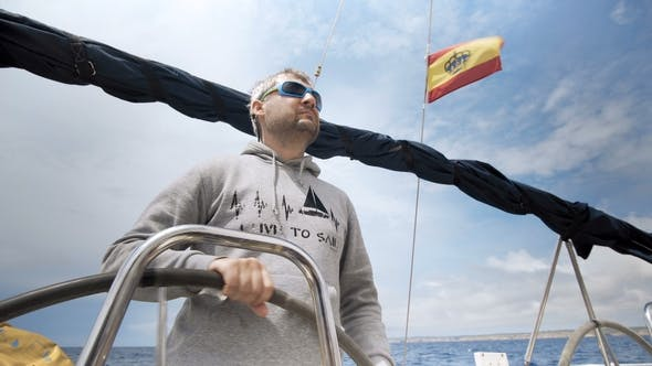 Thumbnail for Skipper on Sailing Boat on Adriatic Sea
