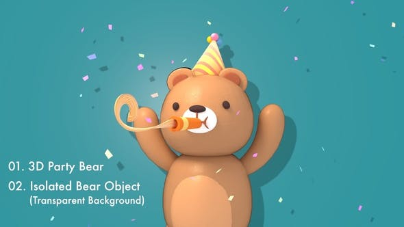 Thumbnail for 3d Party Bear