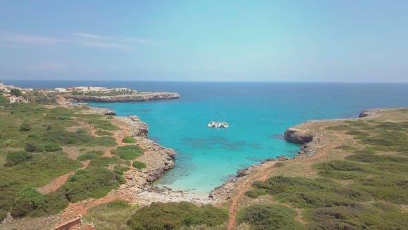 Thumbnail for Tropical Ionian Greece Blue Lagoon Island Aerial