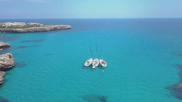 Thumbnail for Tropical Ionian Greece Blue Lagoon Island Aerial  Travel Video. Ocean Sea Forest Coast Seashor