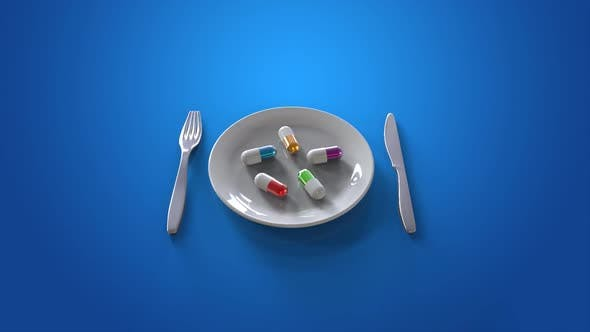 Thumbnail for Pills on a plate