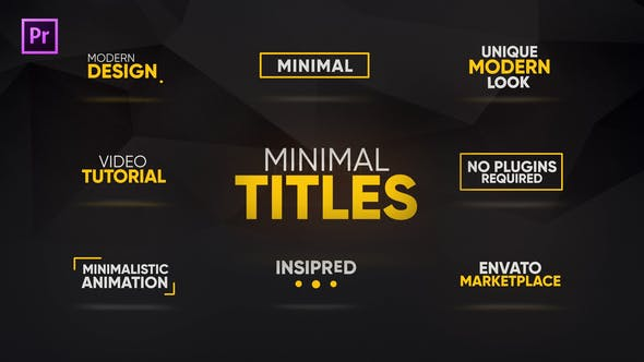 Thumbnail for Minimal Titles Animations for Premiere Pro   Essential Graphics