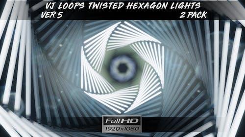VJ Loops Twisted Hexagon Lights Ver.5 - 2 Pack