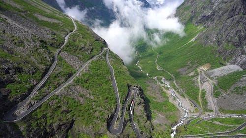 Troll's Path Trollstigen or Trollstigveien Winding Mountain Road.