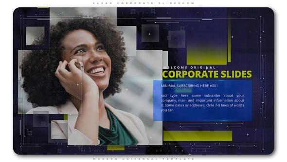 Thumbnail for Presentación de diapositivas corporativa limpia