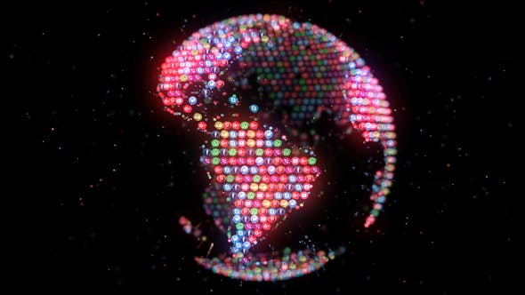 Thumbnail for 4K Social Media Icons Planet Earth